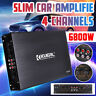 6800W 12V 4 Channel Car Amplifier Power Amp Stereo Audio Super Bass Subwoofer US