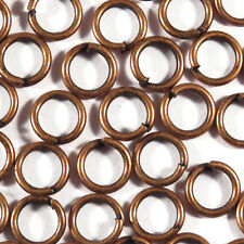 Set 50 connection rings 6mm Metal Coppery For jewelery creation