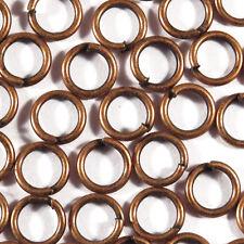 Lot 50 Anneaux de Jonction 6mm Métal Cuivré Pour création de bijoux