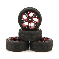 4X RC 12mm Hex Tires & Wheel Rim For HPI HSP 1:10 Racing On Road Car P8NKR