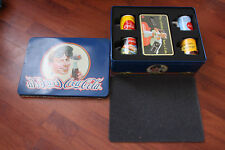 VERY RARE COCA-COLA COLLECTOR'S TIN INC CUPS AND SEALED DOMINOES GAME.