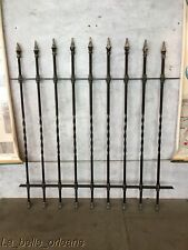 ANTIQUE WROUGHT IRON FENCE PANEL LATE 19TH C. DECORATIVE . GARDEN GATE . l@@k!