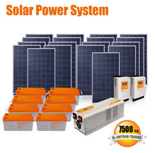 7.5Kva 110Vac/220Vac solar energy solar panel power system home electricity