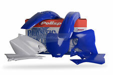 Yamaha YZ125 YZ 125 2000-2001 Blue White Polisport Motocross Plastics Kit MX