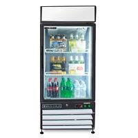 Maxx Cold Single 1 Glass Door Commercial Merchandiser Cooler Refrigerator 12cf