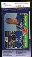 Corey Snyder Jsa Coa Autographed 1986 Fleer Rookie Authentic Hand Signed