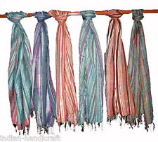"20 Cotton Seersucker long scarves 20"" x 68"" wraps Hijabs accessories SC20"