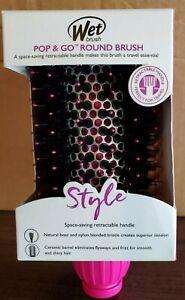 Wet Brush Pop and Go Round Hair Brush Heat Resistant Bristles Retractable Handle