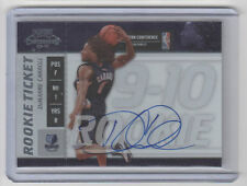 DeMARRE CARROLL Raptors 2009-10 Playoff Contenders Autograph SP RC ON CARD AUTO