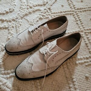 Rogue Oxfords Size 10 Offwhite Real Leather