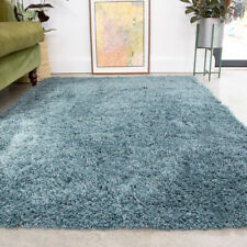 Cosy Blue Shaggy Rug 4.5cm Thick Anti Shed Ocean Living Room Shaggy Area Rugs