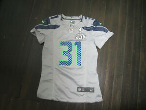 SEATTLE SEAHAWKS # 31 KAM CHANCELLOR JERSEY by NIKE Has Superbowl XLIX Patch
