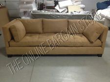 Williams Sonoma Home Pottery Barn WILSHIRE Sofa Couch camel faux suede $3000