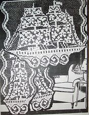 3118 Vintage Filet SHIP Chair Set Pattern to Crochet (Reproduction)