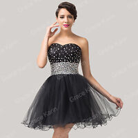 NEW MINI SHORT LADIES COCKTAIL PARTY EVENING BALL GOWN PROM DRESS UK SIZE 6-20