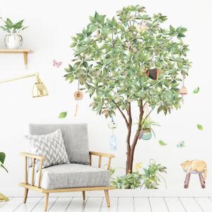 "Tropical DIY Green Tree PVC Vinyl Removable Nursery Mural Decal Wall Sticker 35"""