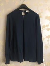 Micheal Kors Women Navy Blue 100% Silk Blouse Size:S BNWOT