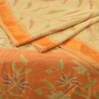 Sanskriti Vintage Rare Pochampally Ikat Sarees Handwoven Pure Silk Sari Fabric
