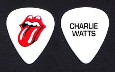 Rolling Stones Charlie Watts White Guitar Pick - 2015 - 2016 Tours