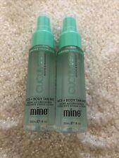 MINETAN Hydrating Cucumber Face Body Tan Mist 2 x 30ml Travel New