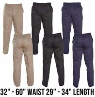 "NEW MENS DESIGNER DUKE BASILIO STRETCH 32""-60"" WAIST RUGBY GOLF WORK TROUSERS"