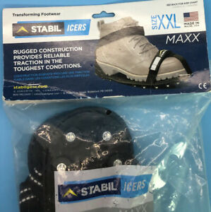 STABILicers Maxx Original Heavy Duty Stabilicers Ice Traction Cleat for Snow XXL