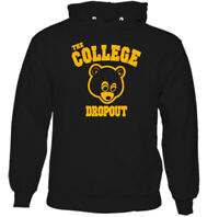 The College Dropout Mens Kanye West Hoodie Drop Out Top