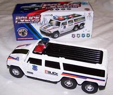 BATTERY OPERATED BUMB AND GO POLICE SUV VAN CAR w musical flashing lights toy
