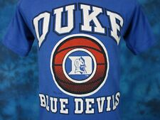 vintage 80s DUKE UNIVERSITY BLUE DEVILS BASKETBALL PAPER THIN T-Shirt XS/SMALL
