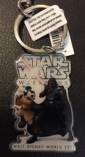 Disney WDW Star Wars Weekends Mickey Mouse Darth Vader 2011 Key Chain Ring -NEW