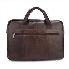 Vintage Cow Leather Men's Briefcase Dispatch Shoulder Cabin Business Laptop Bag