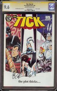 Tick # 4 CGC 9.6 OW/White SS (NEC 1989) Ben Edlund Signature Series
