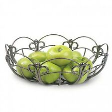 NEW LARGE Anchor Hocking Reflections Round Metal Fruit Basket-Bronze