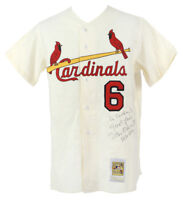 """Stan Musial """"3630 Hits, Hall Of Fame 1969"""" Signed St. Louis Cardinals Jersey JSA"""