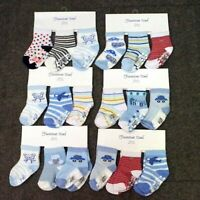 Baby, Toddler Boys ABS Cotton Blend Anti Non Slip Socks 3 Pairs Size 6-12 months