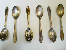 Six Sheffield EPNS A1 Coffee-Dessert-tea Spoon Vintage Cutlery