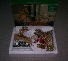 HERITAGE MINT LTD 2003 PORCELAIN C40032 SANTA & REINDEER CHRISTMAS SETTING