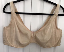 Cacique Bra Full Coverage Underwire Beige Lightly Lined F10