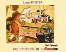 """Pinocchio 1940 Cartoon Geppetto Painting Cat Fish = Poster 8 Sizes 18"""" - 4.5 Ft"""