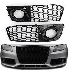 2X Honeycomb Hex Mesh Fog Light Open Vent Grilles Intake For Audi A4 B8 09-12 A3
