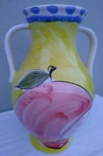 Vintage Jay Willfred Andrea By Sadek Hand Paint Big Vase Portuguese Pottery.