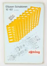 Rotring Technical Drawing Templates - Mechanical Engineering 10 Ellipses 15-60