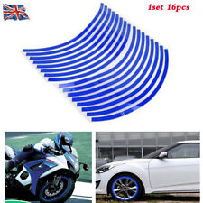 "17"" Blue Reflective Car Motorcycle Bike Wheel Rim Stripe Tape Decal Stickers"