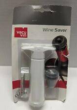 NEW Vacu Vin Vacuum Wine Saver Pump With Stopper Preserves Click Indicator