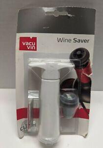 NEW Vacu Vin Vacuum Wine Saver Pump With Stopper Preserves Click Indicator