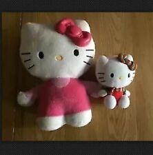 2x Hello Kitty Plush Dolls Incl. Night Light Up