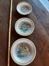 3 Piatti Fangotto Caltagirone Ceramica antica Terracotta Burgio
