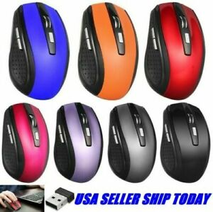 2.4GHz Wireless Mice Cordless Optical Mouse& USB Receiver For PC Laptop Computer