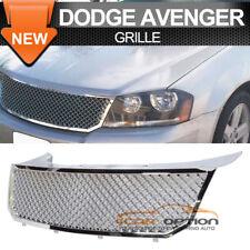 Fits 08-11 Dodge Avenger 09-10 Chrysler Sebring B Style Front Chrome Mesh Grille