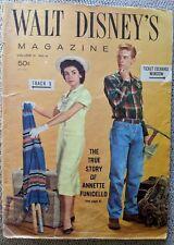 Walt Disney Magazine, Vol 3, #4, June 1958, Annette Funicello True Story